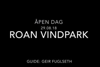 Åpen dag i Roan vindpark august 2018